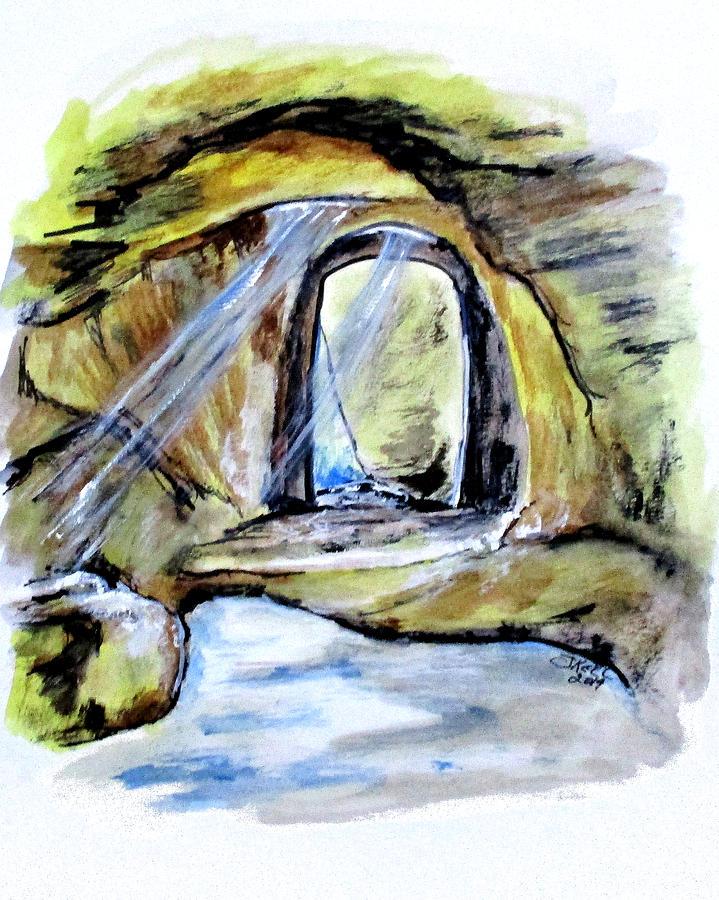 Cumaean Sibyl Cave by Clyde J Kell