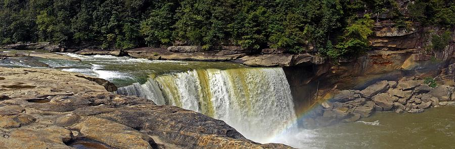 Cumberland Falls and Rainbow Panorama by Mike Murdock