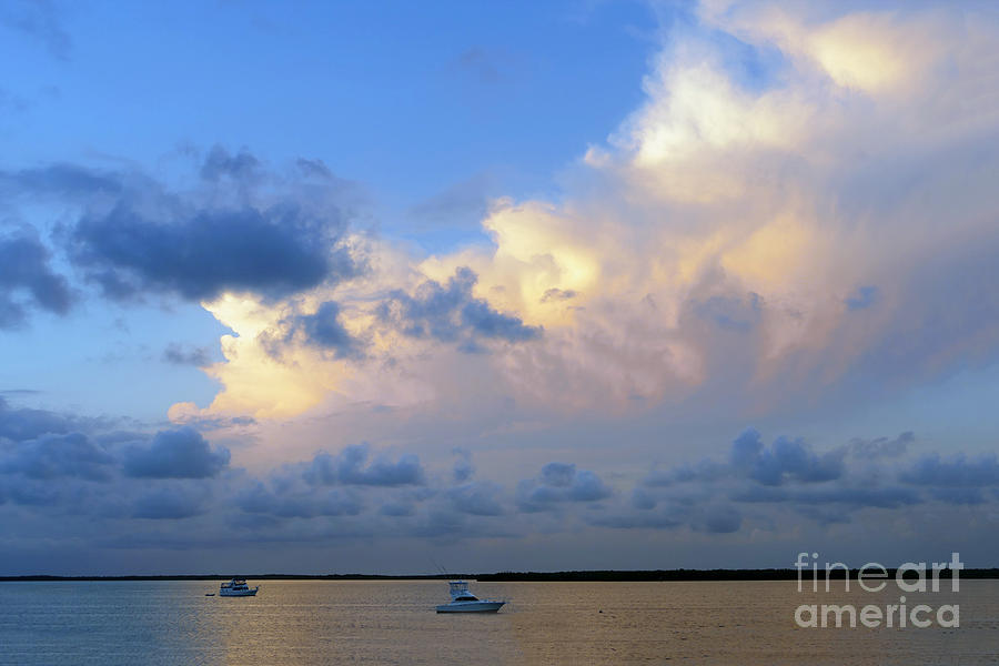 Cumulus Clouds Over Tarpon Basin by Catherine Sherman