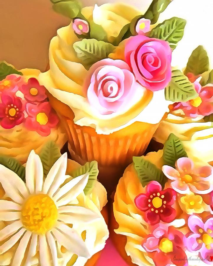 CupCakes In Acrylic by Catherine Lott