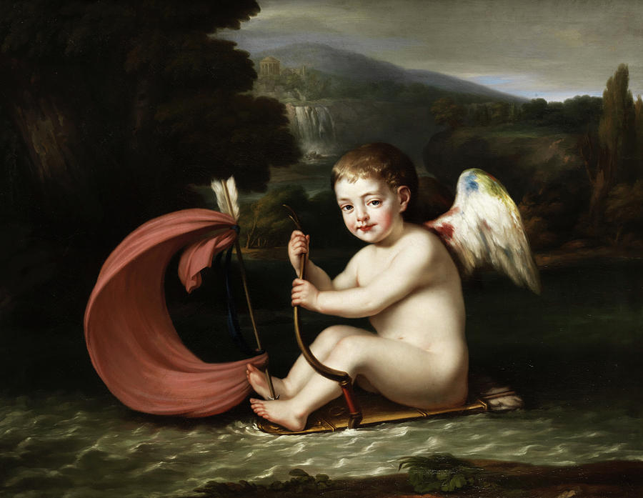 Cupid Painting - Cupid by Francois Gerard