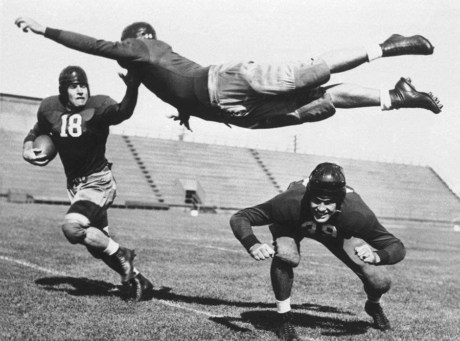 Curiosity  American Flying Football Photograph by Keystone-france