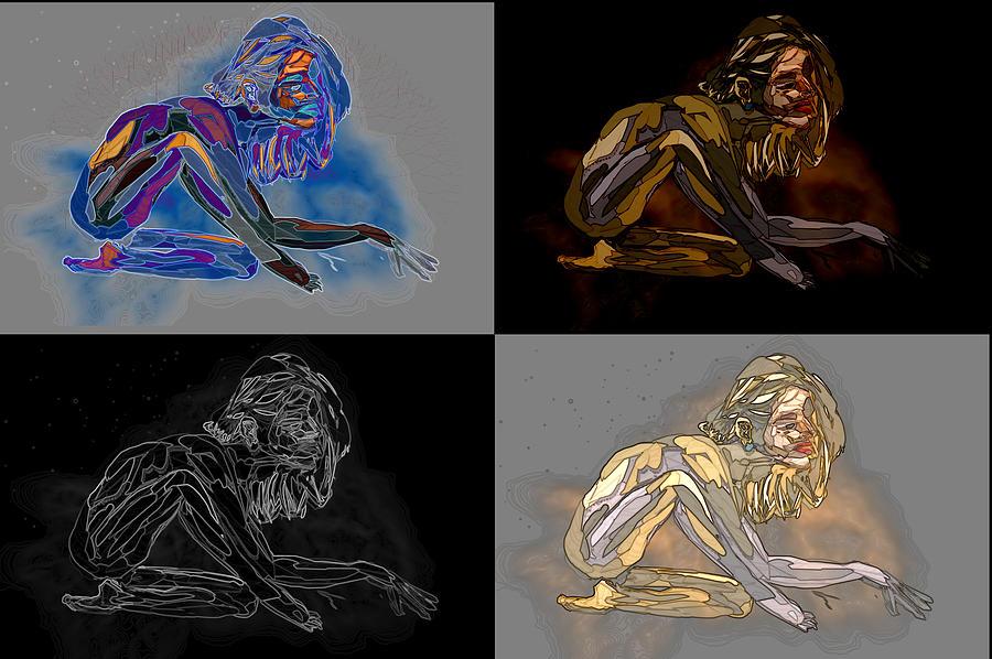 Abstract Digital Art - Curiosity   by Kevin Branham