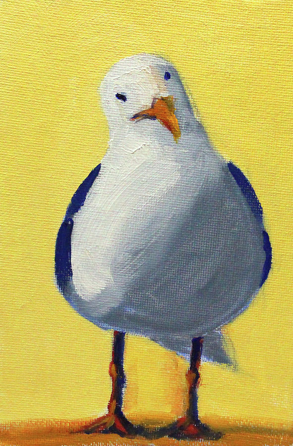 Curious Gull by Nancy Merkle