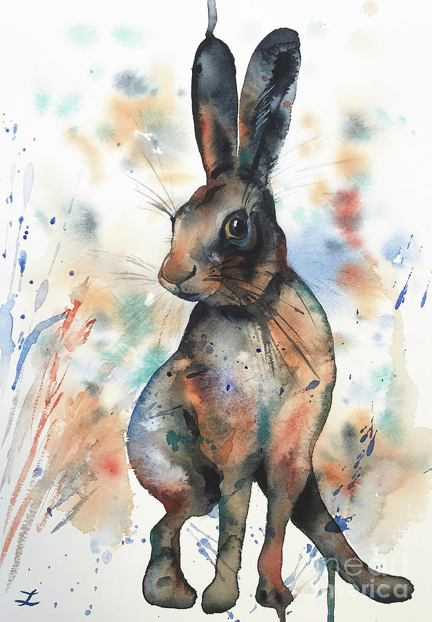 Curious Hare Painting
