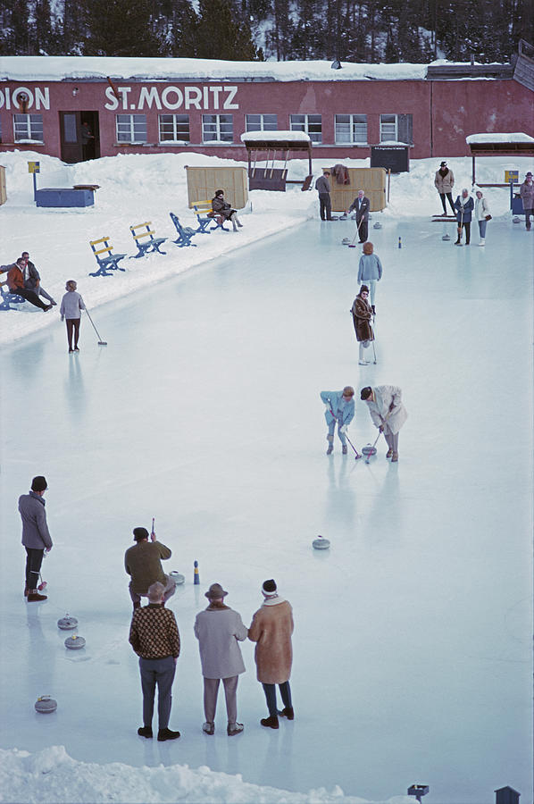 Curling At St. Moritz Photograph by Slim Aarons