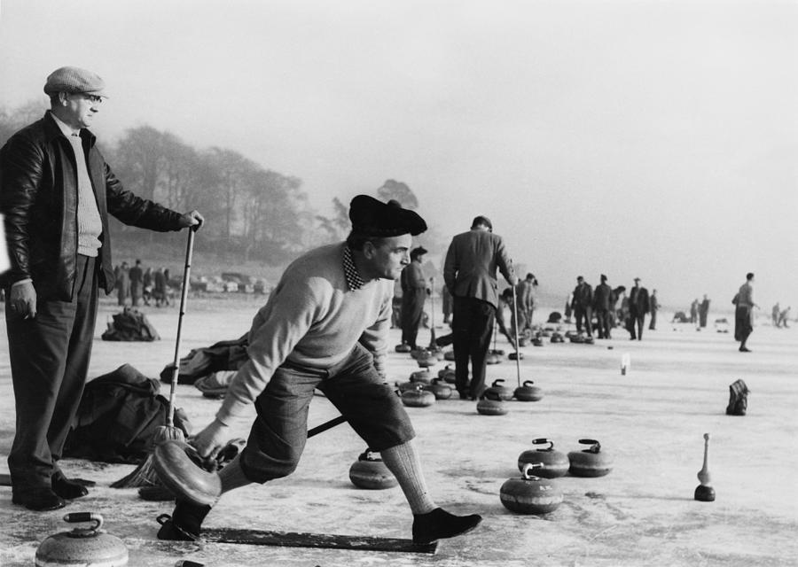 Curling On Loch Leven Photograph by Keystone
