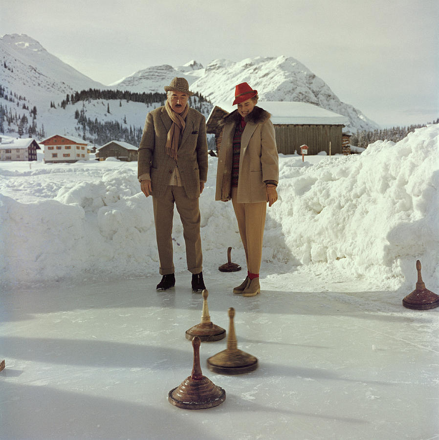 Curling Photograph by Slim Aarons