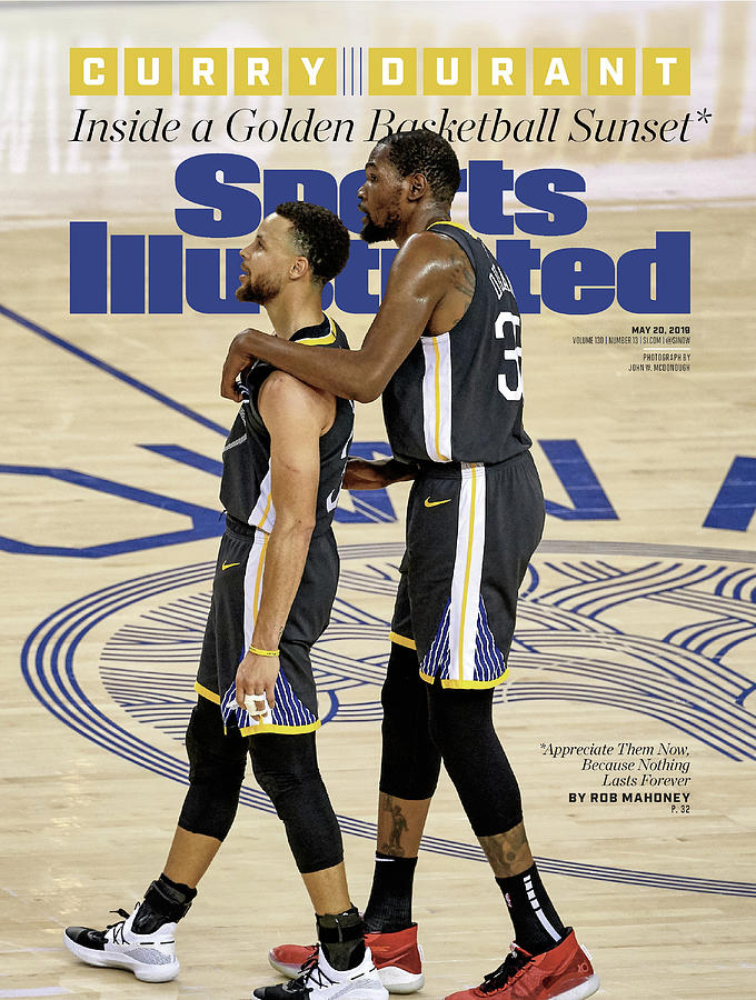 Curry  Durant Inside A Golden Basketball Sunset Sports Illustrated Cover Photograph by Sports Illustrated