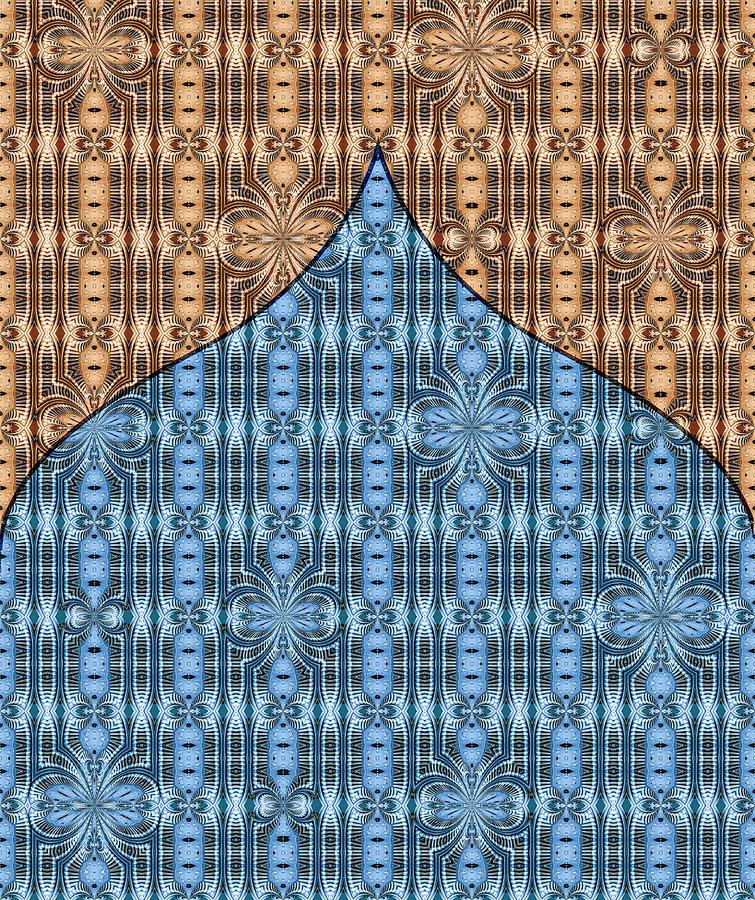 Curtain Rising Two-Tone Blue and Brown by Lori Kingston