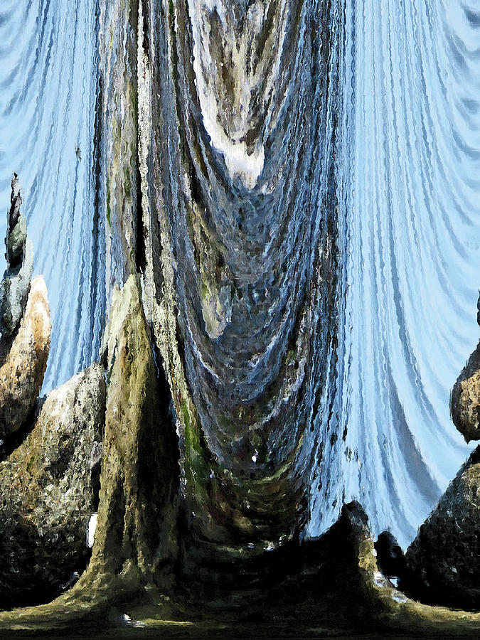 Curtains Of Water - Under The Sea Digital Art