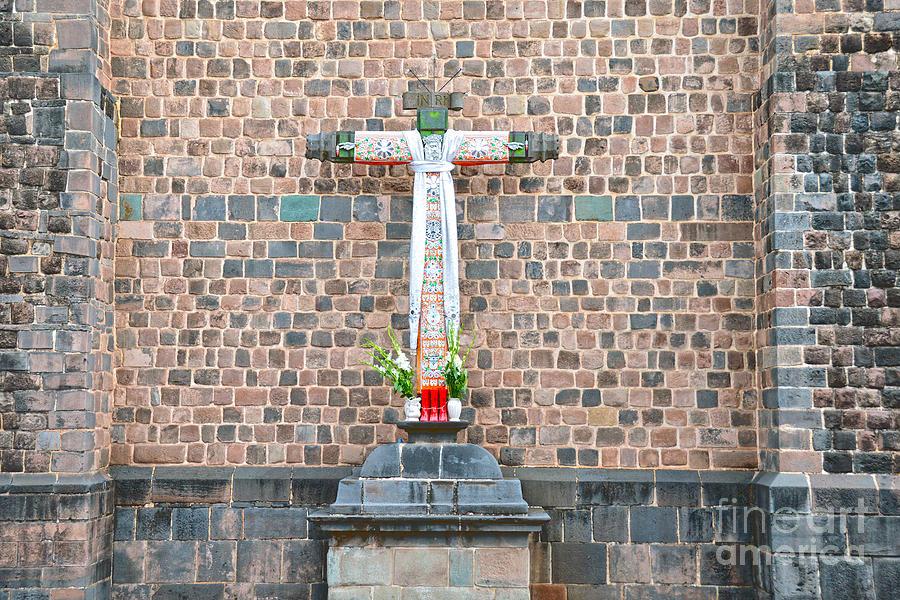 Cusco, Peru, Cross by Catherine Sherman