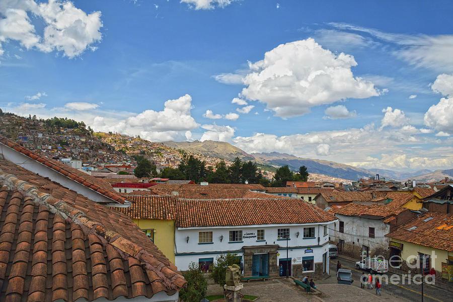 Cusco, Peru, Rooftops by Catherine Sherman