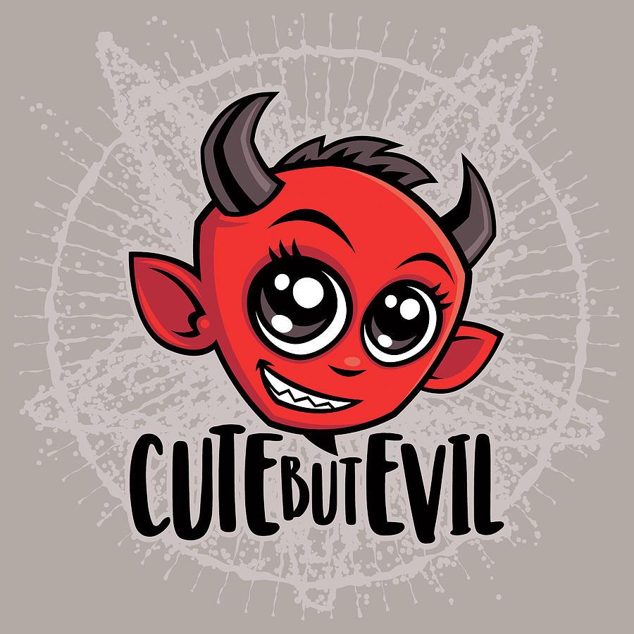 Cute But Evil Digital Art