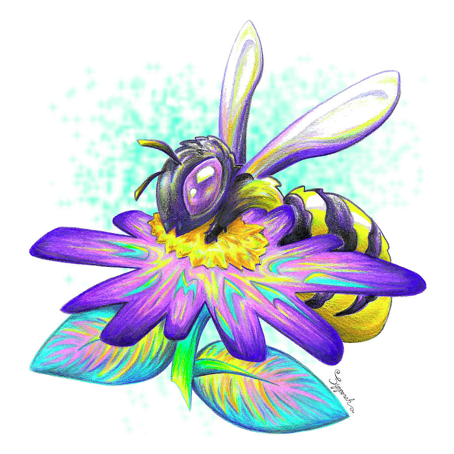 Cute Cartoon Bee by Sipporah Art and Illustration