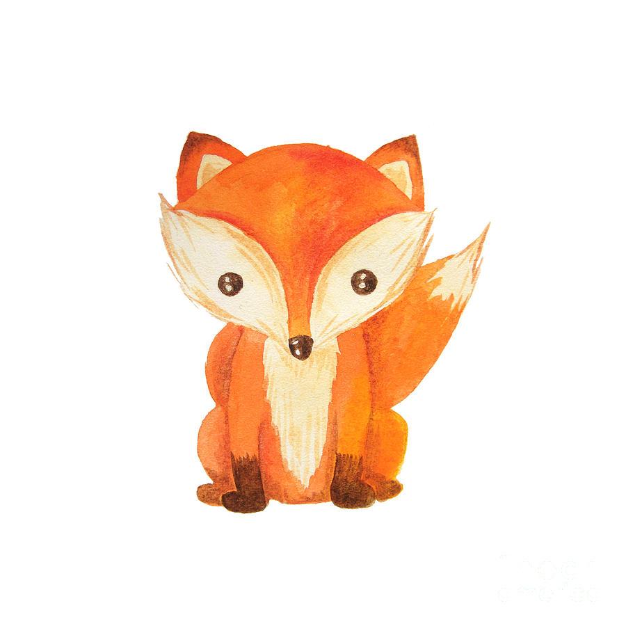 Forest Digital Art - Cute Cartoon Watercolor Forest Animal by Zabrotskaya Larysa