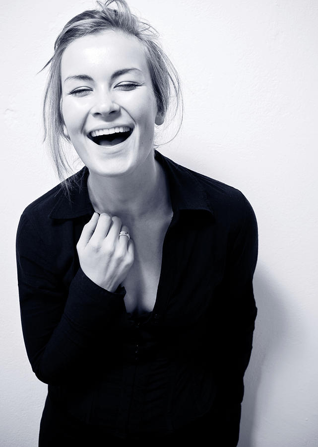 Cute Happy Laughing Girl Photograph by Guido Mieth
