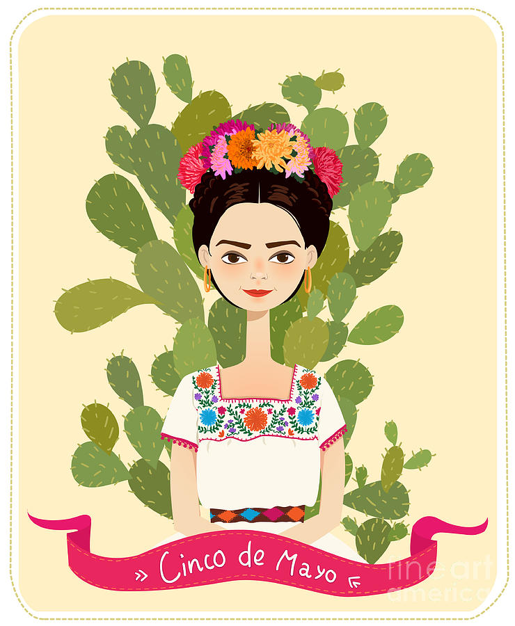 De Digital Art - Cute Mexican Girl In An Ancient Dress by Salvadorova