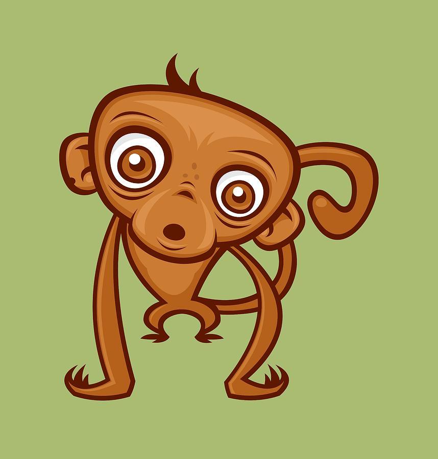 Cute Monkey Digital Art