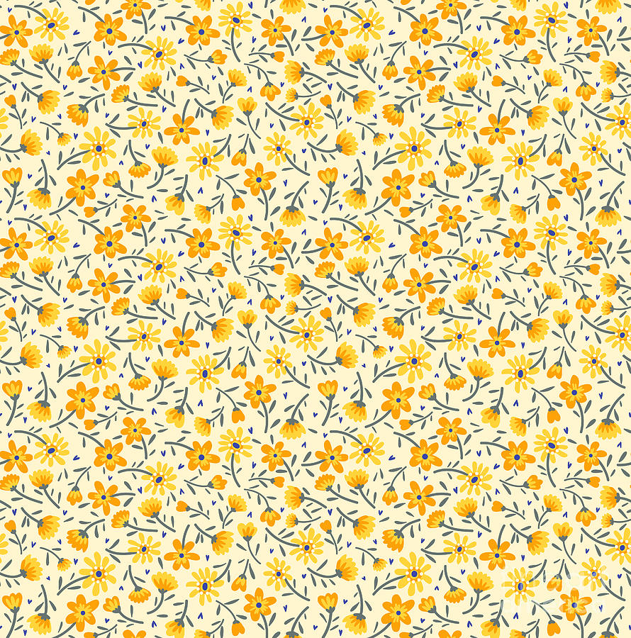 Cute Pattern In Small Flower Small Digital Art By Ann And Pen
