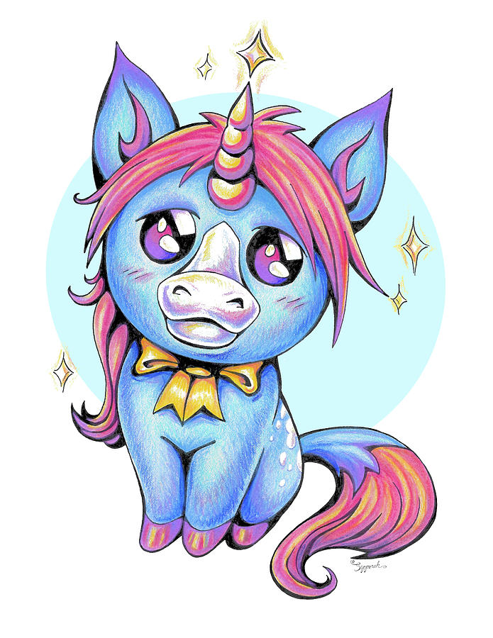 Cute Unicorn I by Sipporah Art and Illustration