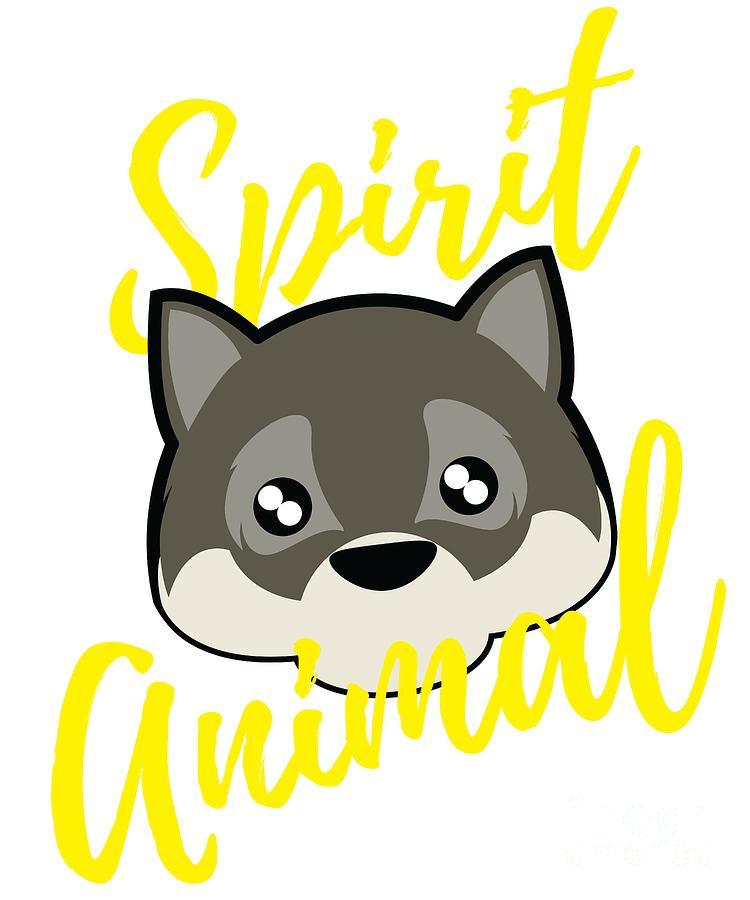 Cute Wolf Spirit Animal