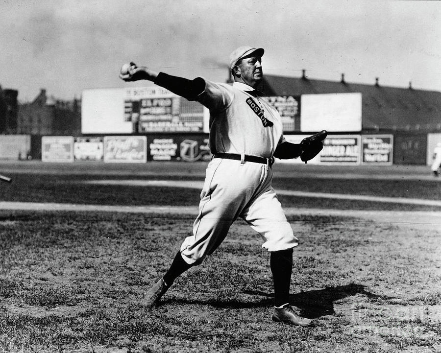 Cy Young Boston Wind Up Photograph by Transcendental Graphics