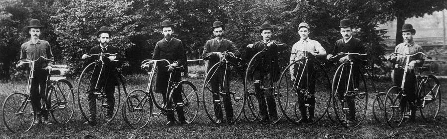 Cycle Club Photograph by Hulton Archive