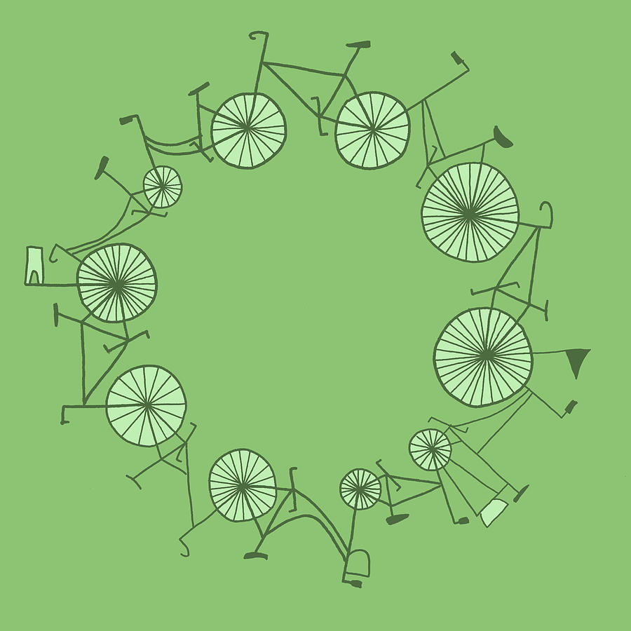 Cycle Digital Art by Illustrations