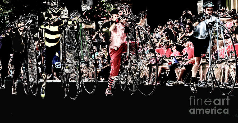 Penny-farthing Photograph - Cycling High  by Steven Digman