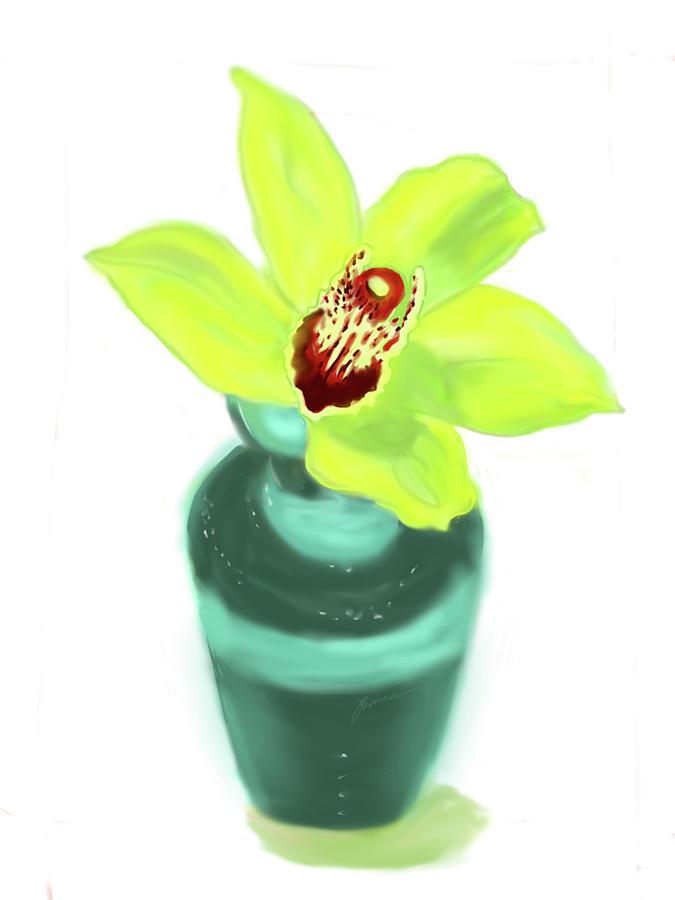 Cymbidium Orchid Flower by Jean Pacheco Ravinski