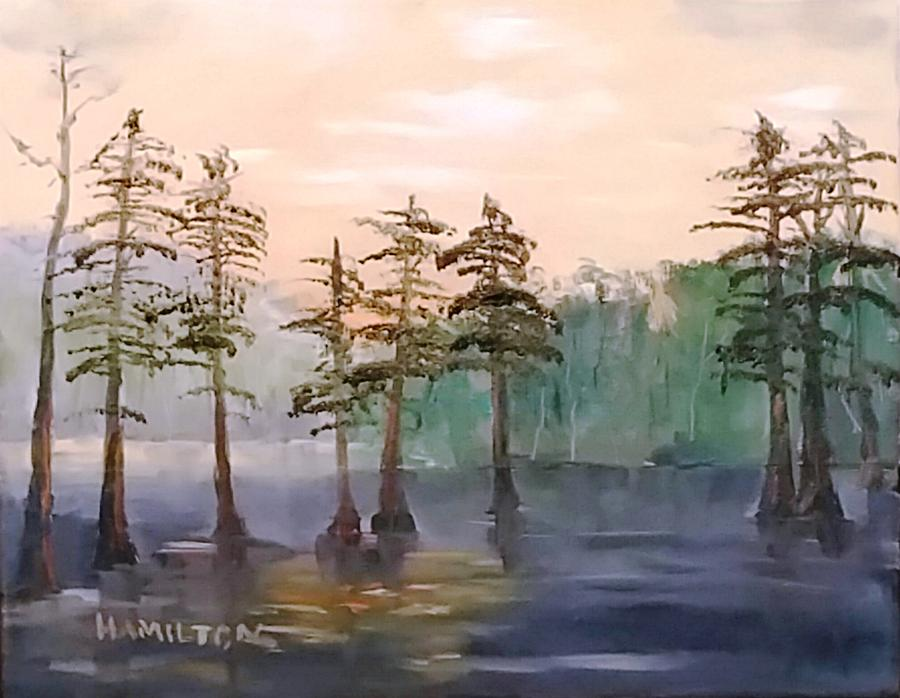 Cypress Trees by Larry Hamilton