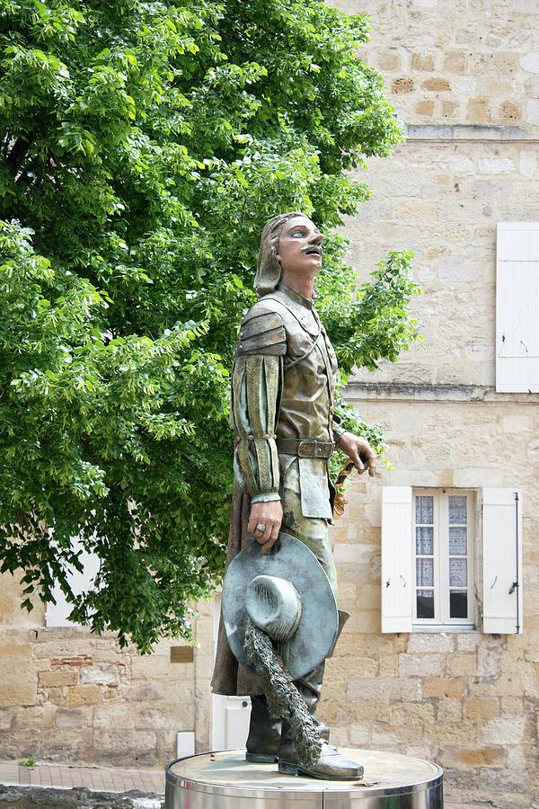 Cyrano statue, Bergerac France by Curt Rush