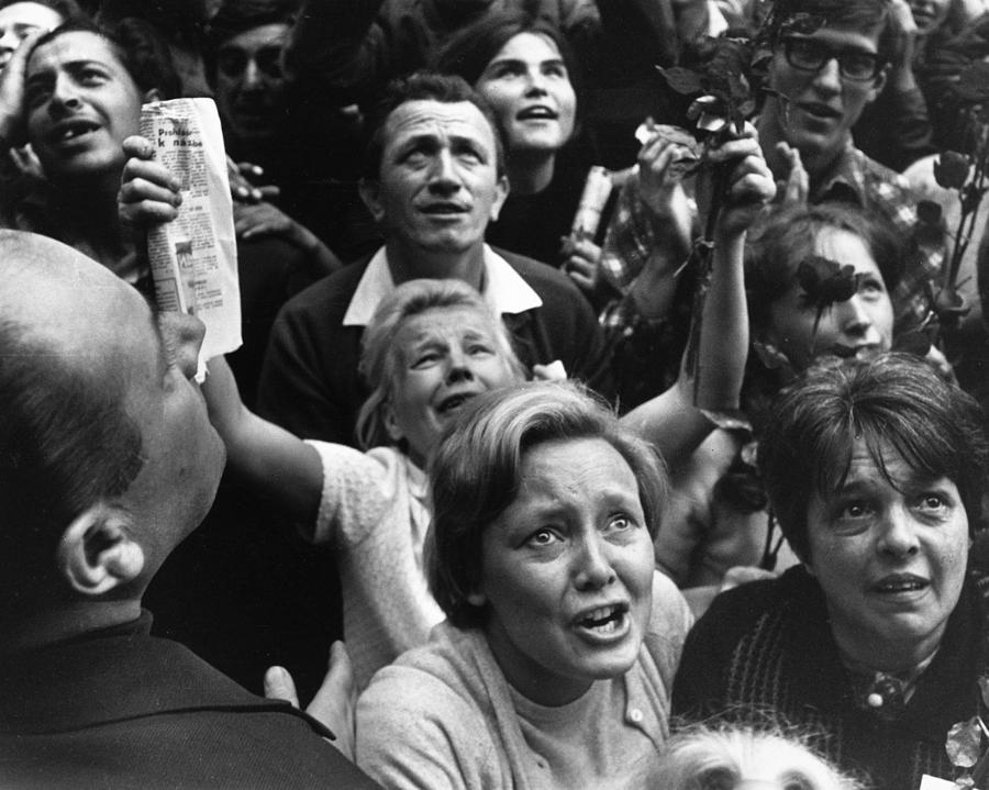 Czech Crowd Photograph by Reg Lancaster