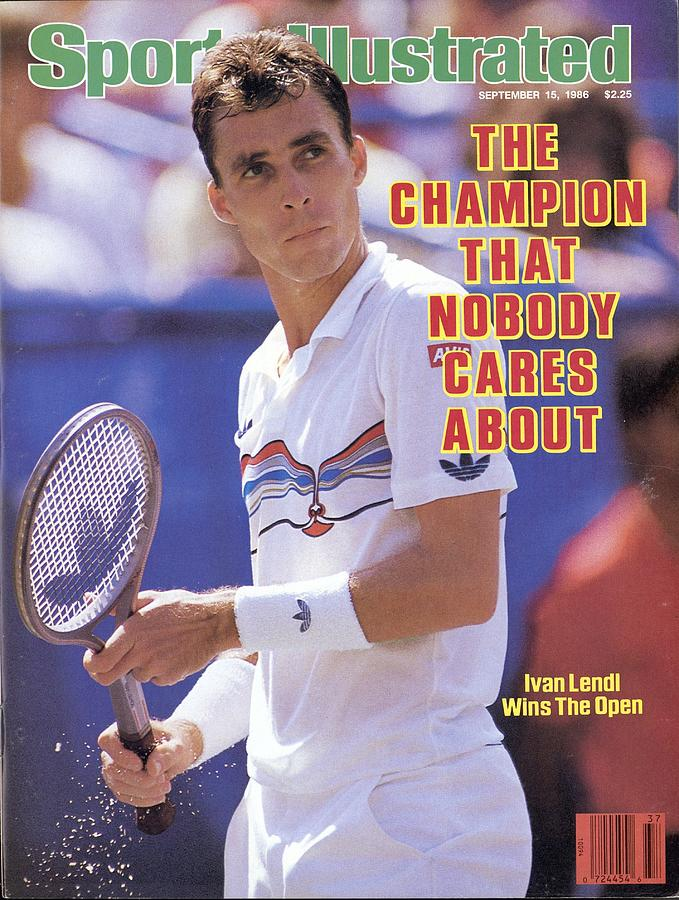 Czechoslovakia Ivan Lendl, 1986 Us Open Sports Illustrated Cover Photograph by Sports Illustrated