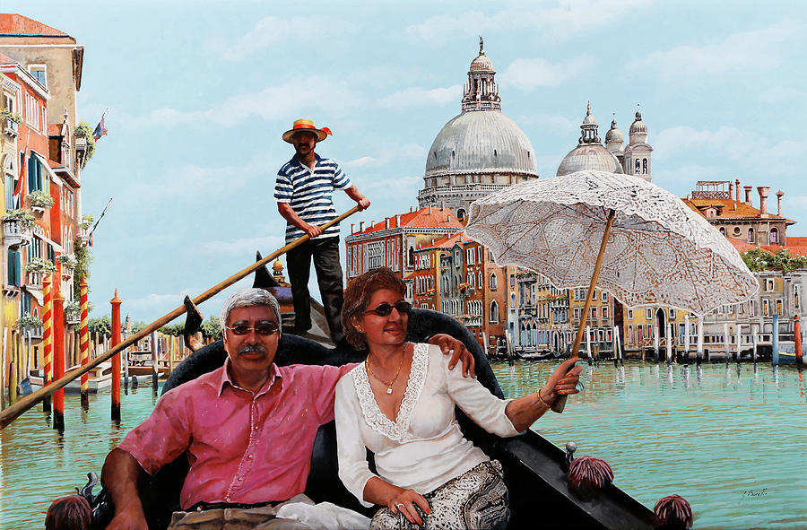 D And His Wife In Venice Painting