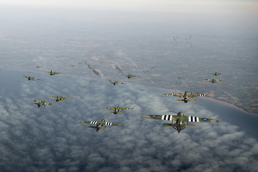 D-Day Stirlings and gliders by Gary Eason