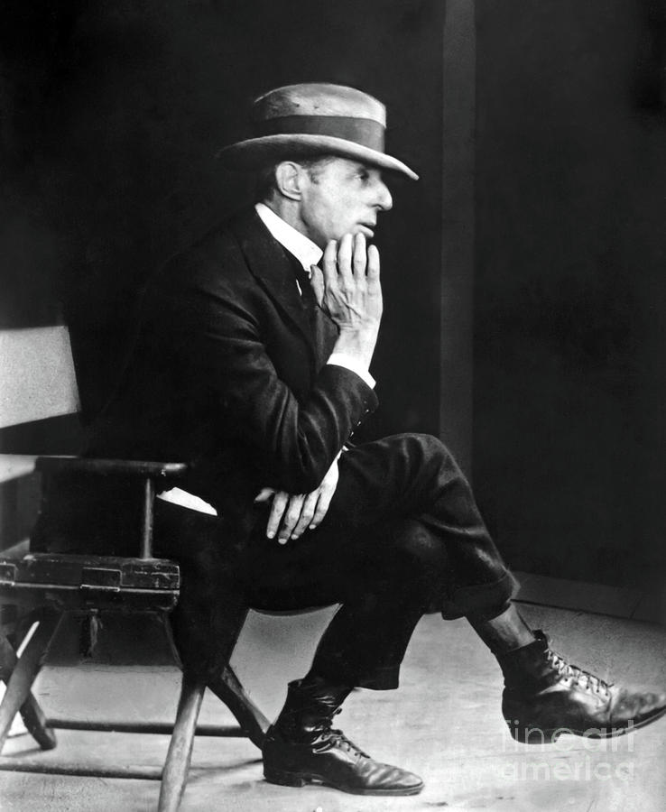 D.w. Griffith Photograph - D. W. Griffith - American Film Director by Sad Hill - Bizarre Los Angeles Archive