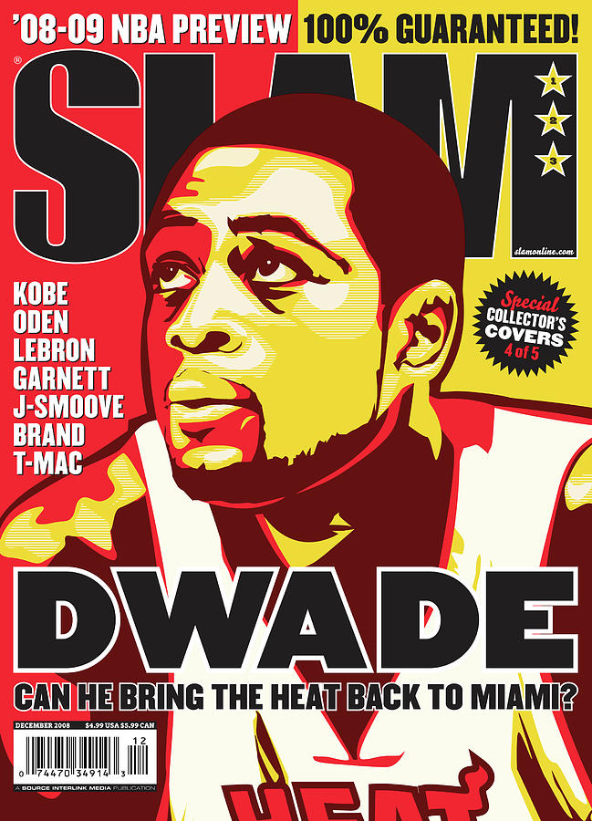 D Wade: Can He Bring the Heat Back to Miami? SLAM Cover Photograph by Slam