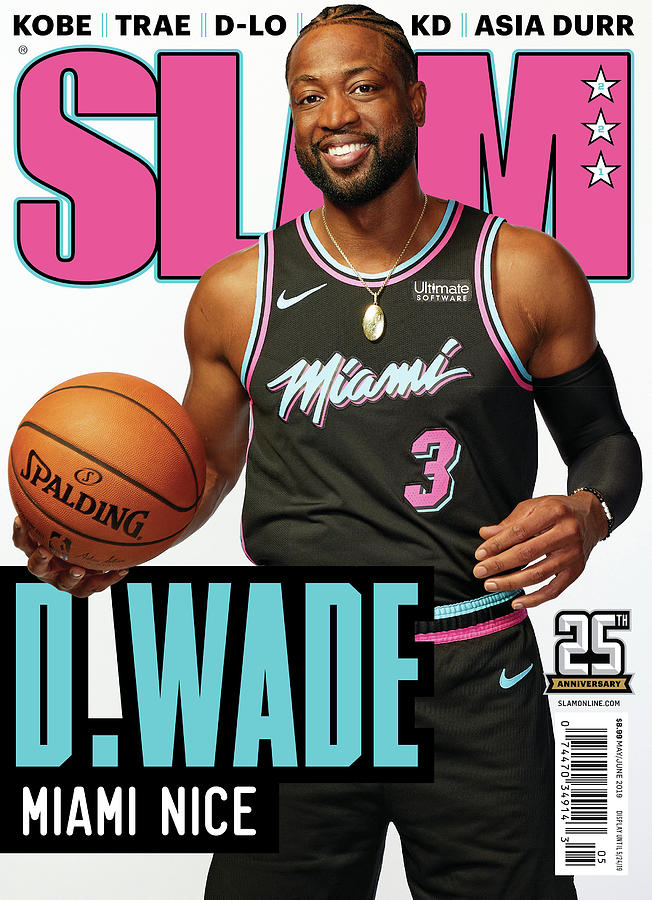 D. Wade: Miami Nice SLAM Cover Photograph by Jeffrey Salter