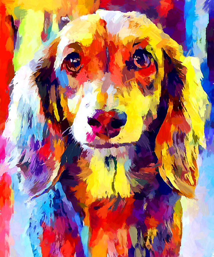 Dachshund Painting - Dachshund 5 by Chris Butler