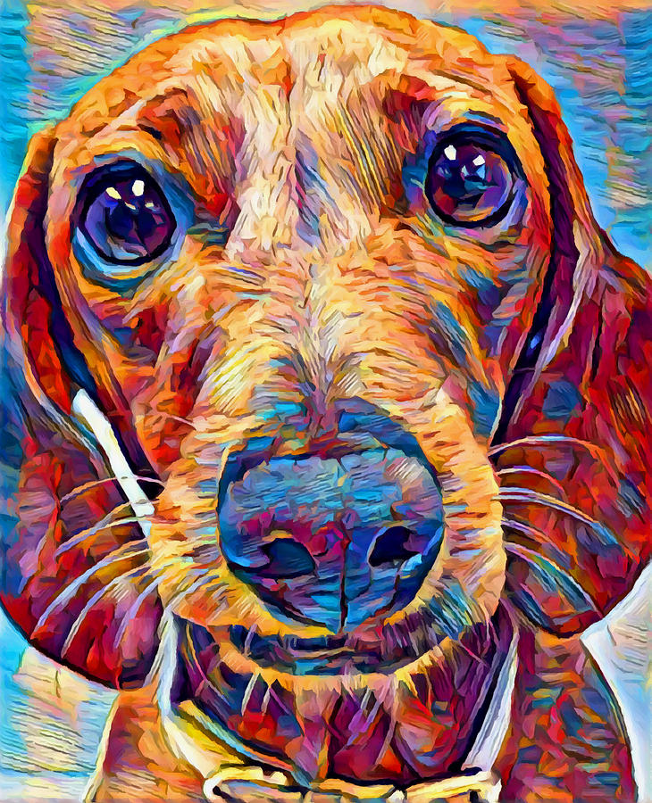 Dog Painting - Dachshund 6 by Chris Butler