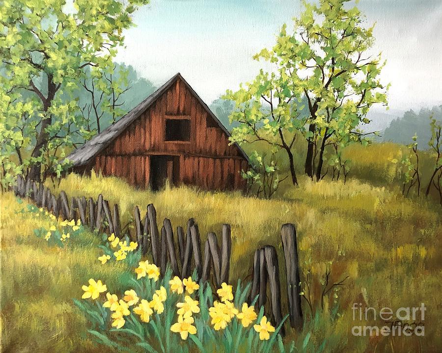 Daffodil barn by Inese Poga