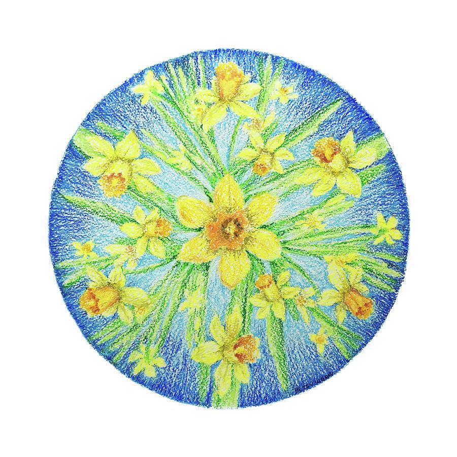 Daffodil Mandala by Betsy Gray