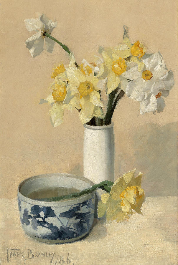Daffodils and Narcissi by Frank Bramley