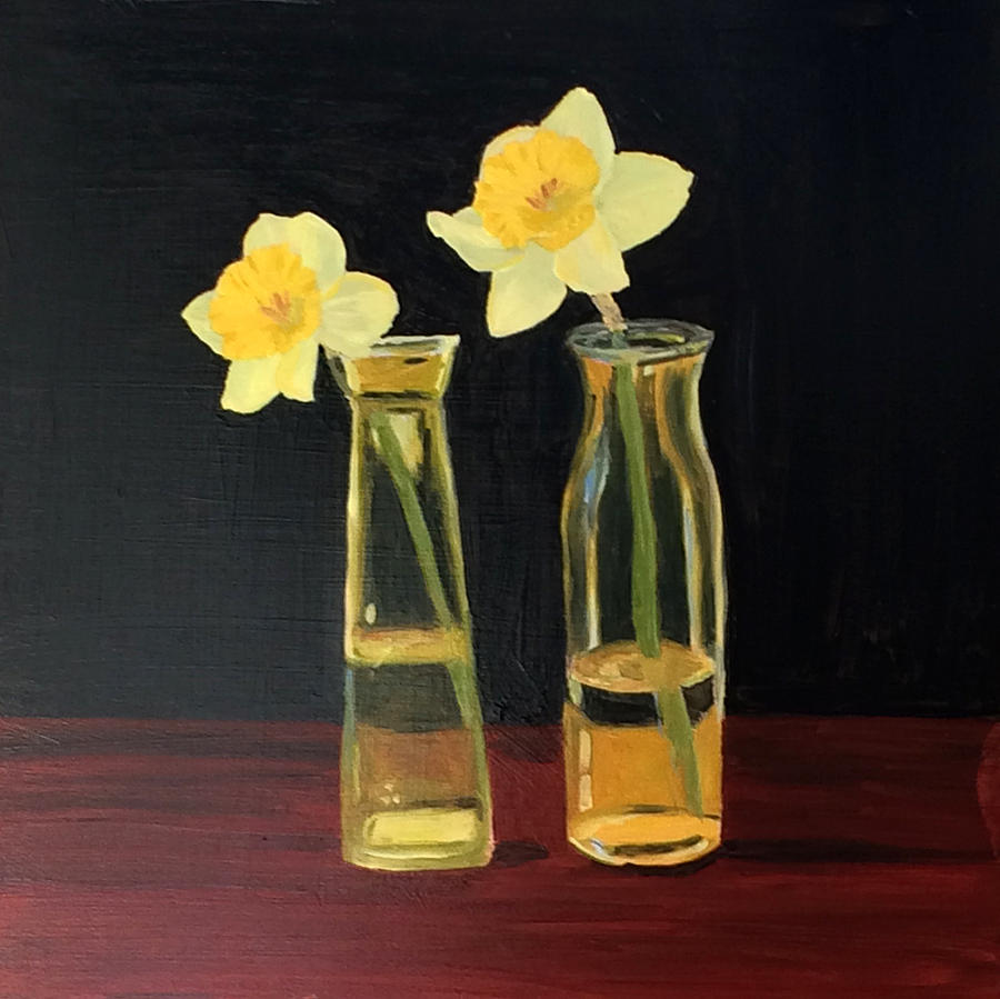 Flowers Painting - Daffodils by Emily Warren