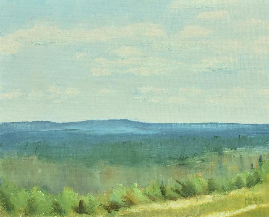 Scandinavian Painting - dagrar over salenfjallen- Shifting daylight over mountain ridges, 4 of 12_4238_6,6Mb 80x100cm by Marica Ohlsson