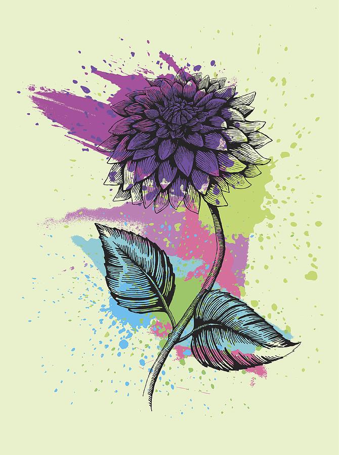 Dahlia Digital Art by Mecaleha