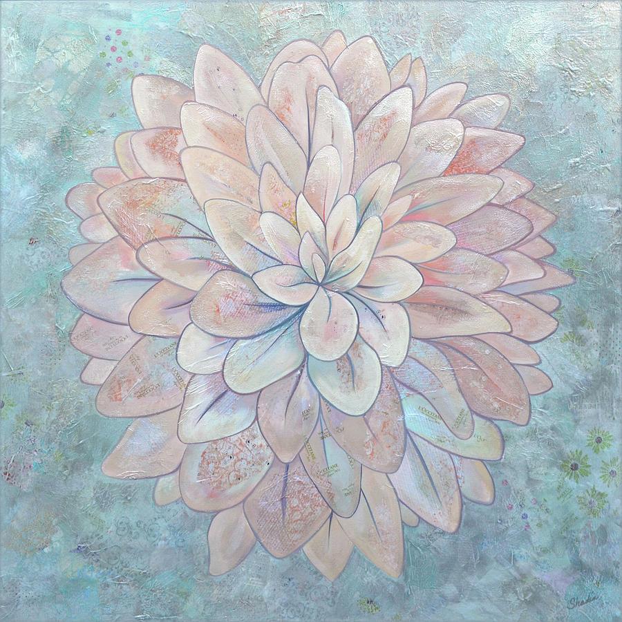 Dahlia Painting