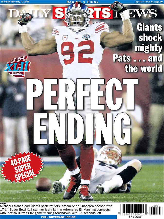 Daily News Back Page Feb. 4, 2008 Photograph by New York Daily News Archive